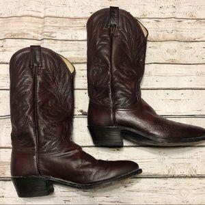 Cherry Dan Post Cowboy Boots